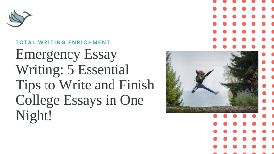 Emergency Essay Writing: 5 Essential Tips to Write and Finish College Essays in One Night!